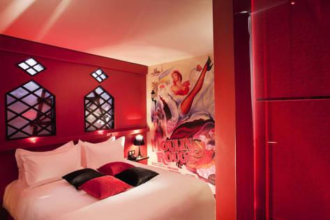 Hôtel Design Hotel Secret de Paris chambre rouge