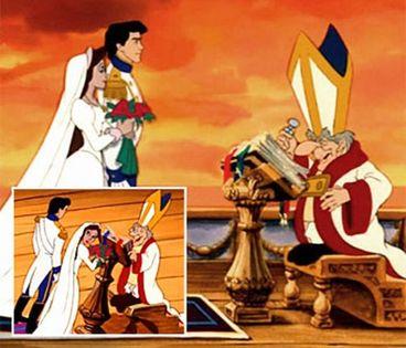 mariage la petite sirène prêtre érection