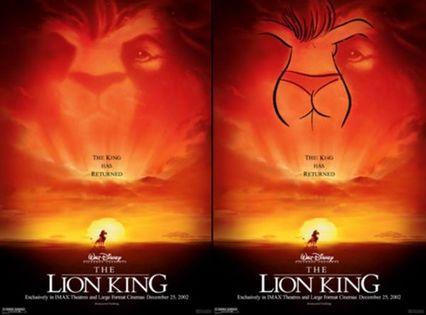 nez du roi lion fesses