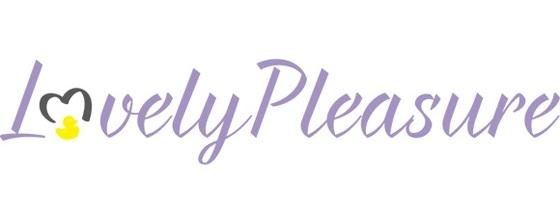 lovely pleasure logo fond blanc