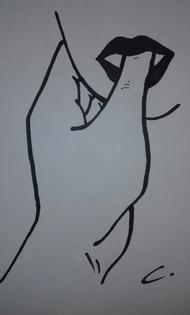 dessin sexy pouce bouche