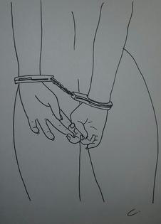 dessin érotique menottes